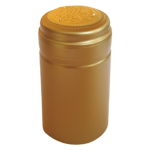 PVC Shrink cap for wine bottles Gold